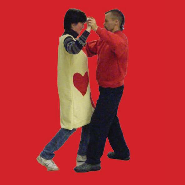 Two dancing a tango